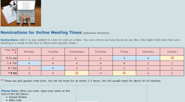 Online Meeting Times example