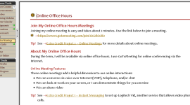 Sample online meetings page