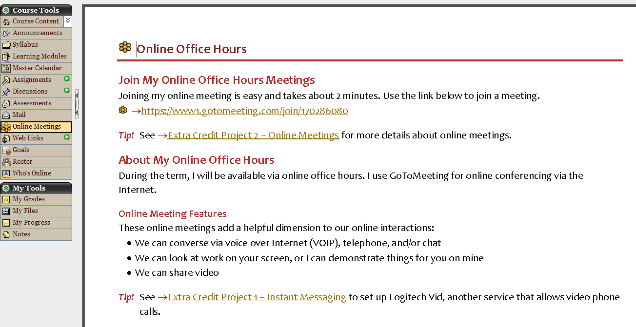 Teaching Online – Meetings